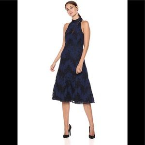 NWT navy blue and black lace dress, Keepsake brand